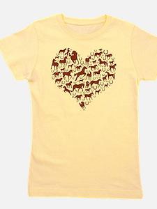 horse heart brown Girl's Tee
