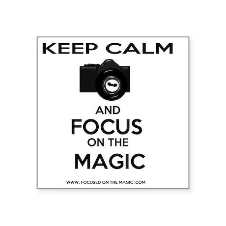 "Focus on the Magic Square Sticker 3"" x 3"""