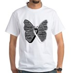 Butterfly Carcinoid Cancer White T-Shirt