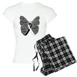 Butterfly Carcinoid Cancer Women's Light Pajamas