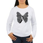 Butterfly Carcinoid Cancer Women's Long Sleeve T-S