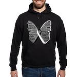Butterfly Carcinoid Cancer Hoodie (dark)