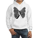 Butterfly Carcinoid Cancer Hooded Sweatshirt