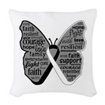 Butterfly Carcinoid Cancer Woven Throw Pillow