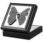 Butterfly Carcinoid Cancer Keepsake Box