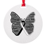 Butterfly Carcinoid Cancer Round Ornament