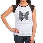 Butterfly Carcinoid Cancer Women's Cap Sleeve T-Sh