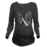 Butterfly Carcinoid Cancer Long Sleeve Maternity T