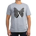 Butterfly Carcinoid Cancer Men's Fitted T-Shirt (d