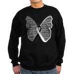 Butterfly Carcinoid Cancer Sweatshirt (dark)