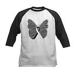 Butterfly Carcinoid Cancer Kids Baseball Jersey
