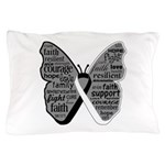 Butterfly Carcinoid Cancer Pillow Case