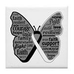 Butterfly Carcinoid Cancer Tile Coaster