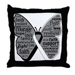 Butterfly Carcinoid Cancer Throw Pillow