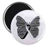 Butterfly Carcinoid Cancer Magnet