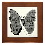 Butterfly Carcinoid Cancer Framed Tile