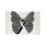 Butterfly Carcinoid Cancer Rectangle Magnet (100 p