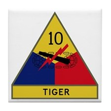 10th Armored Division - Tiger Divisio Tile Coaster
