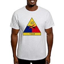 10th Armored Division - Tiger Divisi T-Shirt
