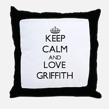Keep calm and love Griffith Throw Pillow