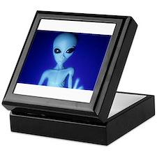 The Blue Alien Keepsake Box