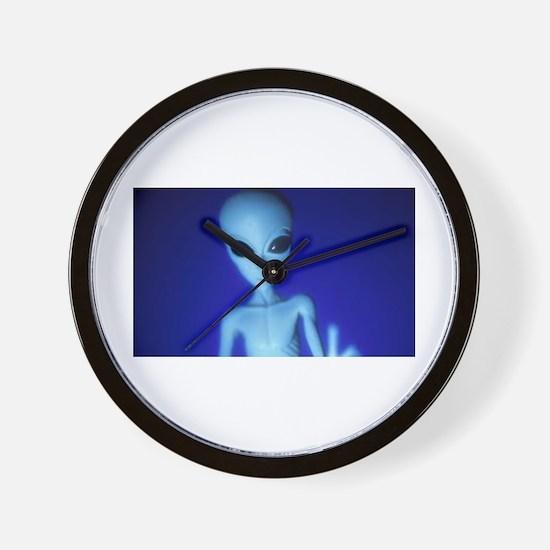 The Blue Alien Wall Clock
