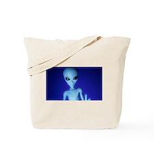 The Blue Alien Tote Bag