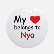 My heart belongs to nya Ornament (Round)