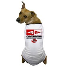Cave Diving (Line Markers) Dog T-Shirt