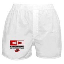 Cave Diving (Line Markers) Boxer Shorts