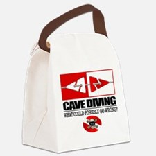 Cave Diving (Line Markers) Canvas Lunch Bag