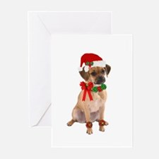Christmas Puggle Greeting Cards