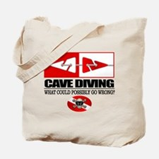 Cave Diving (Line Markers) Tote Bag
