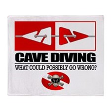 Cave Diving (Line Markers) Throw Blanket