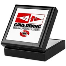 Cave Diving (Line Markers) Keepsake Box