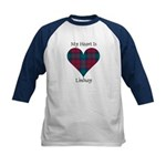 Heart - Lindsay Kids Baseball Jersey