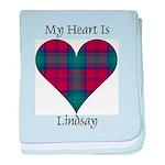 Heart - Lindsay baby blanket