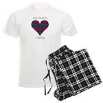 Heart - Lindsay Men's Light Pajamas