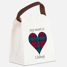 Heart - Lindsay Canvas Lunch Bag