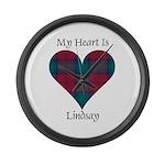 Heart - Lindsay Large Wall Clock