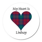 Heart - Lindsay Round Car Magnet