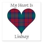 Heart - Lindsay Square Car Magnet 3