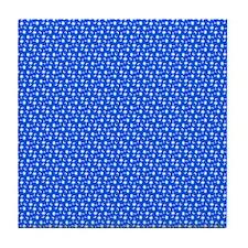 Bright Blue SC Palmetto Moon Flag Tile Coaster