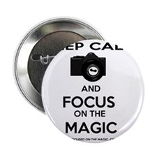 """Focused on the Magic 2.25"""" Button"""