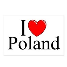 """""""I Love Poland"""" Postcards (Package of 8)"""