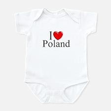 """""""I Love Poland"""" Infant Bodysuit"""