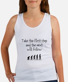 Take the first step inspirational quote Tank Top