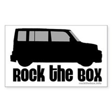 Rock the Box Rectangle Decal