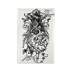 Letter A Rectangle Magnet (10 pack)