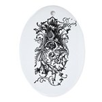 Letter A Oval Ornament